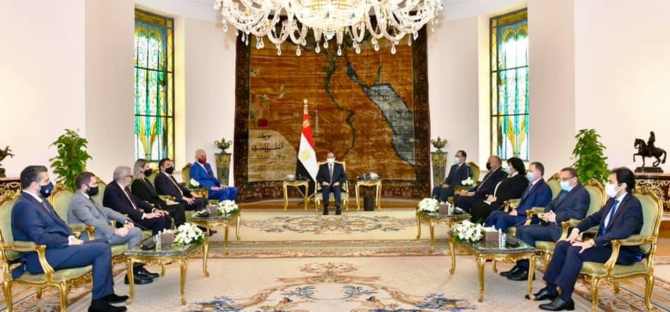 الرئيس السيسي يستقبل رئيس وزراء جمهورية ألبانيا