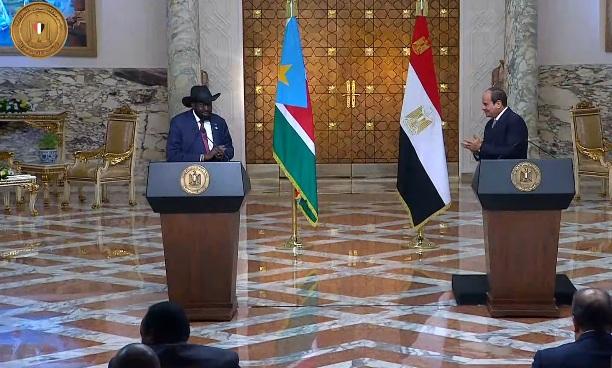 الرئيس السيسي يستقبل سلفا كير بقصر الاتحادية