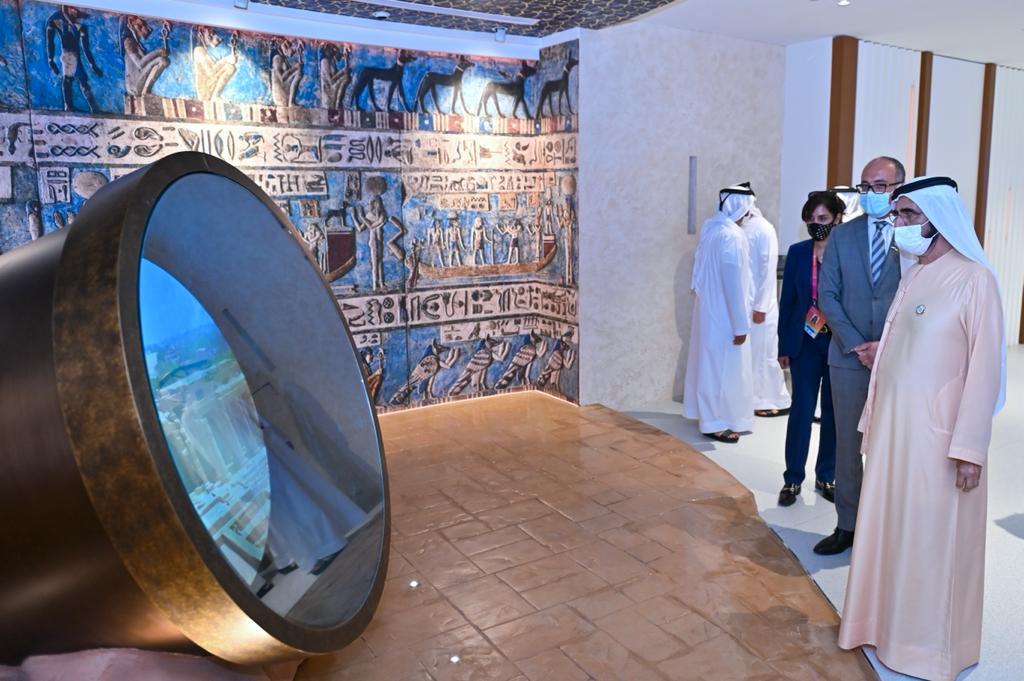 الشيخ محمد بن راشد يزور الجناح المصري بإكسبو دبي ٢٠٢٠
