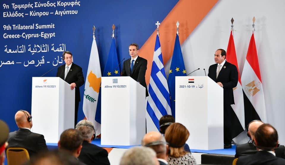 صور| نص كلمة الرئيس السيسي عقب القمة الثلاثية بين مصر وقبرص واليونان