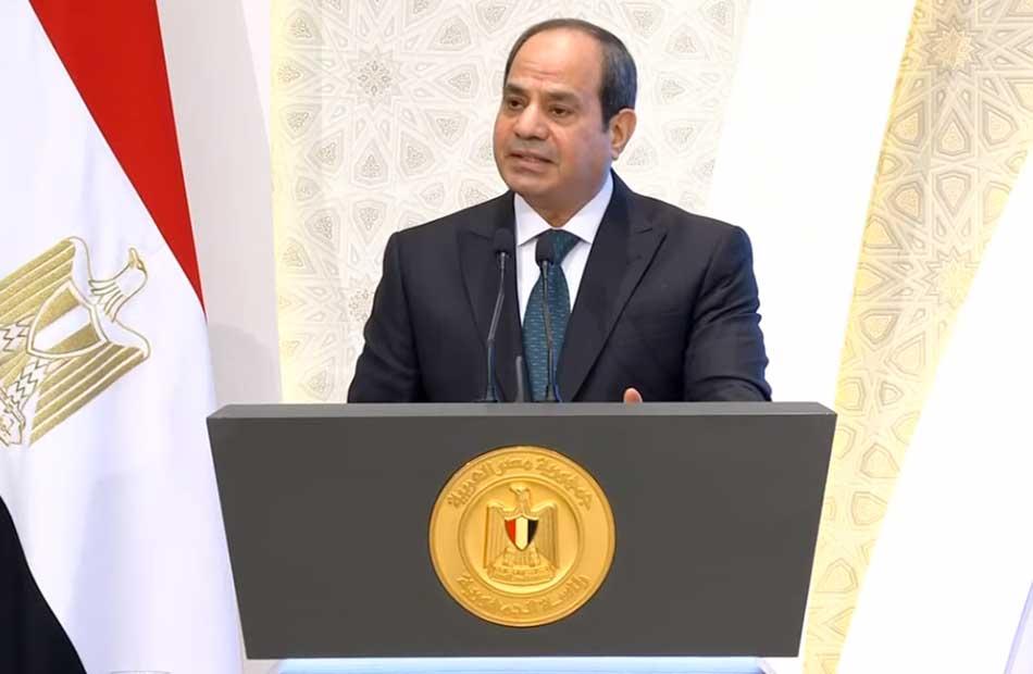 الرئيس السيسي: الله أرسل سيدنا محمد ليغير الدنيا ويخرج الأمة من الظلمات إلى النور