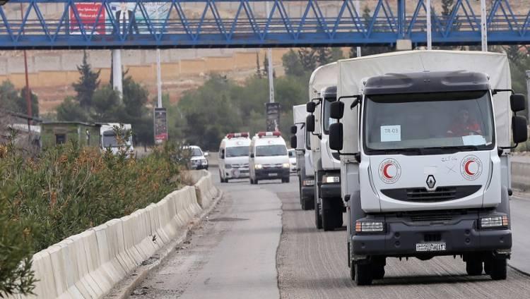 مركز «حميميم» الروسي: نقل أول دفعة من المساعدات الطبية إلى دير الزور