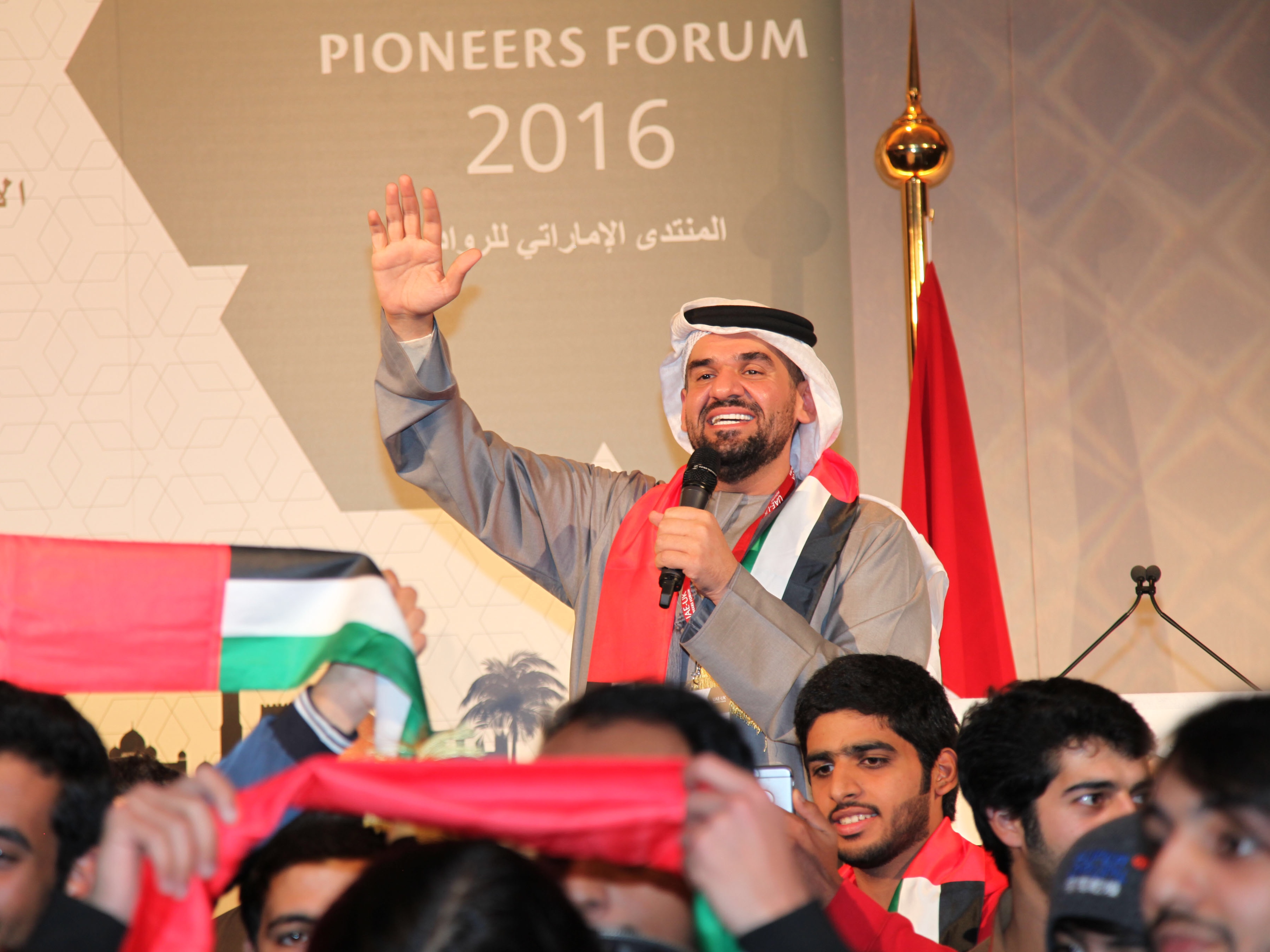 حسين الجسمي يحاضر في منتدى الرواد الإماراتي في لندن