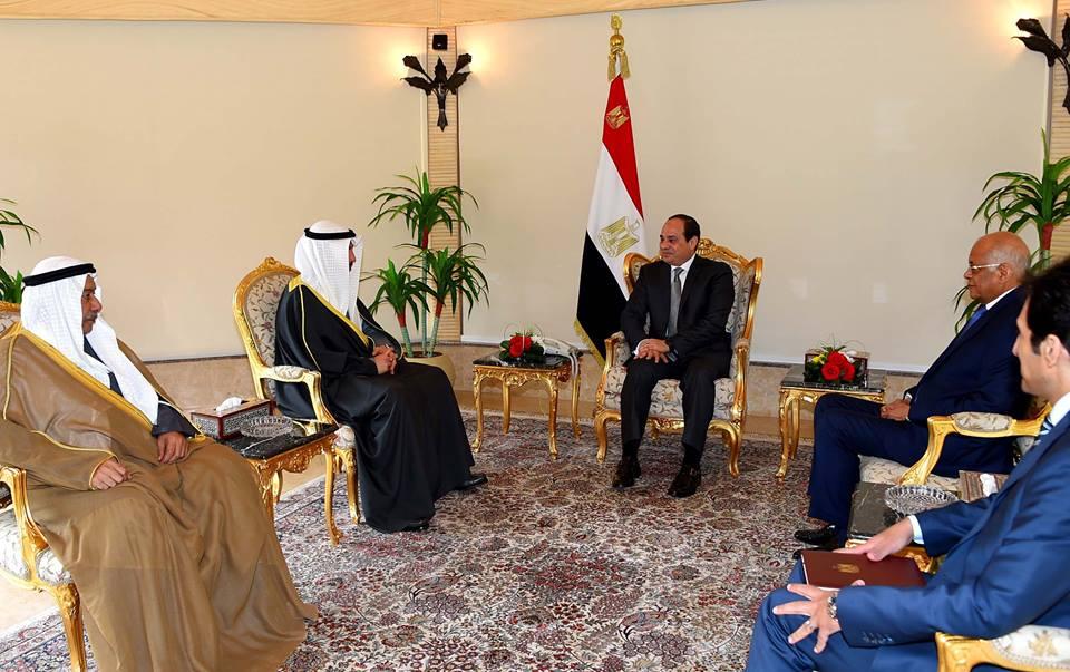الرئيس السيسي لمرزوق الغانم : حريصون على تطوير التعاون الوثيق والمتميز بين مصر والكويت