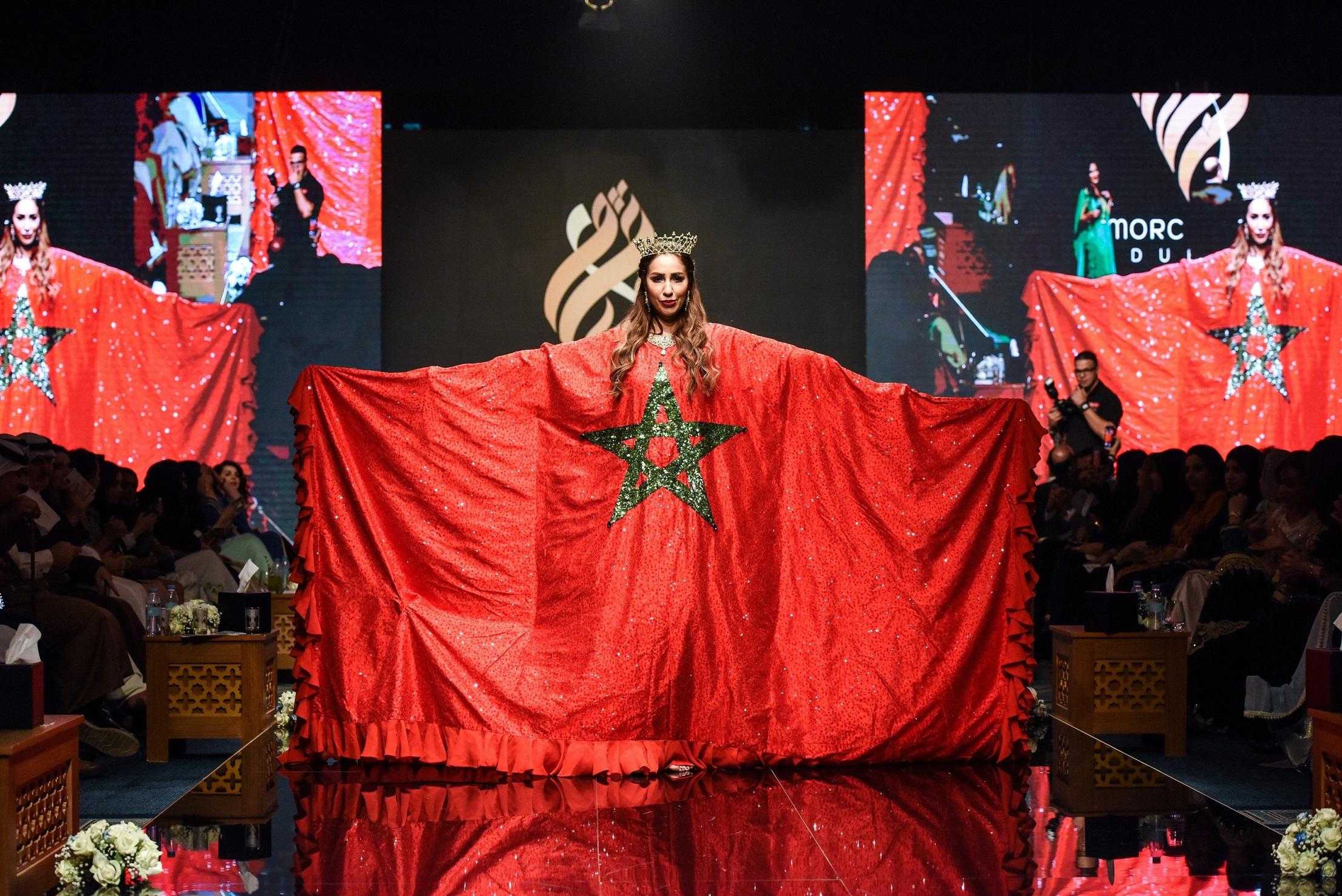 "Résultat de recherche d'images pour ""بحضور نجوم الفن والاعلام المغربي القفطان المغربي يتألق في دبي بليلة أسطورية"""