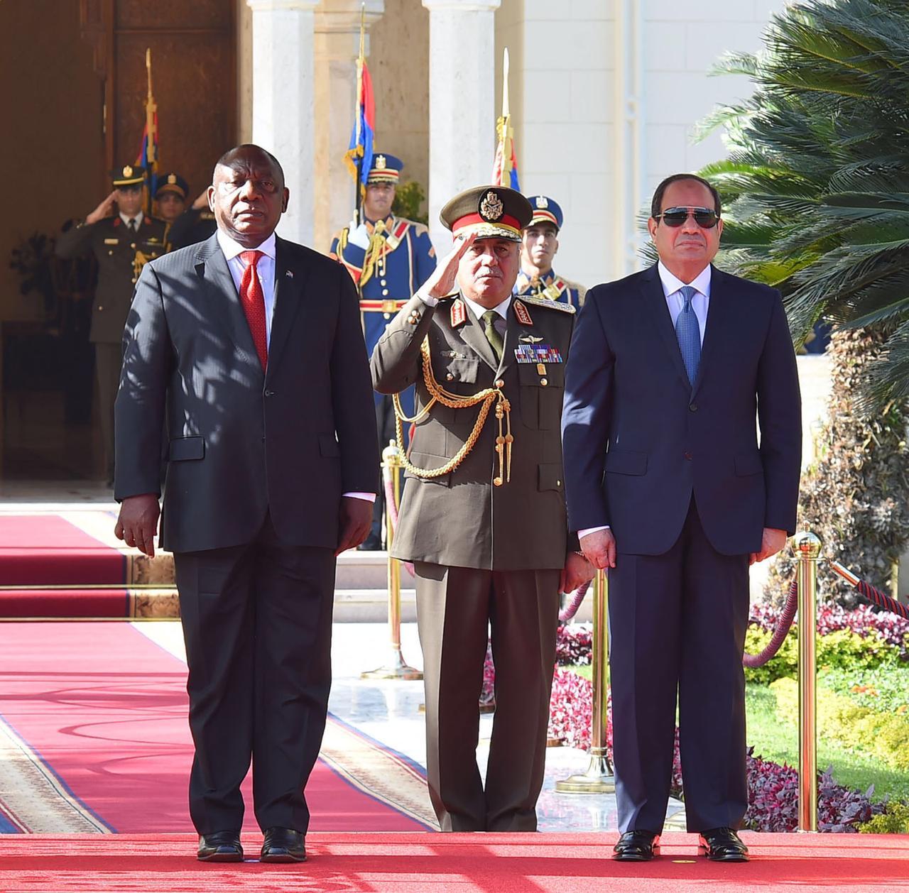 استقبال رئيس جنوب أفريقيا2