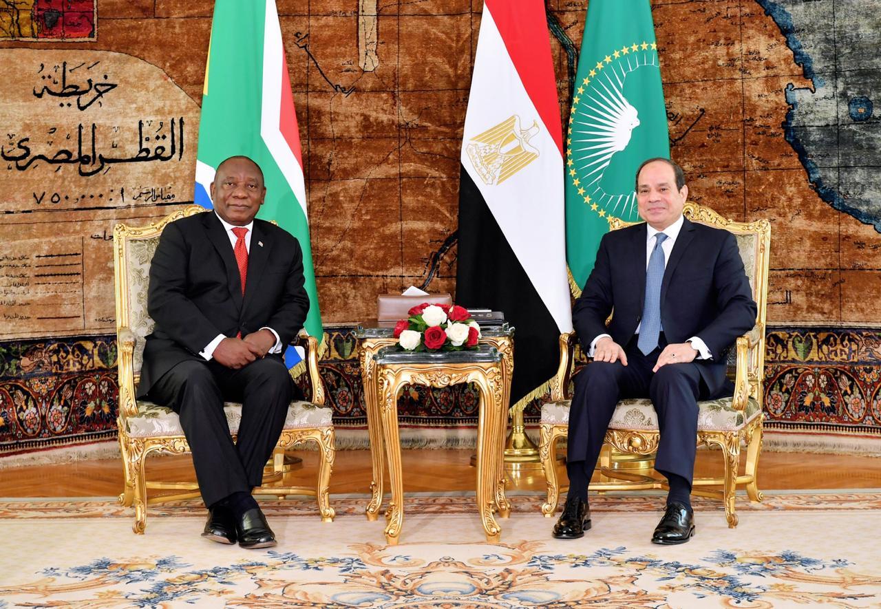 الرئيس السيسي لنظيره الجنوب أفريقي سير يل رامافوزا    استقبال رئيس جنوب أفريقيا8