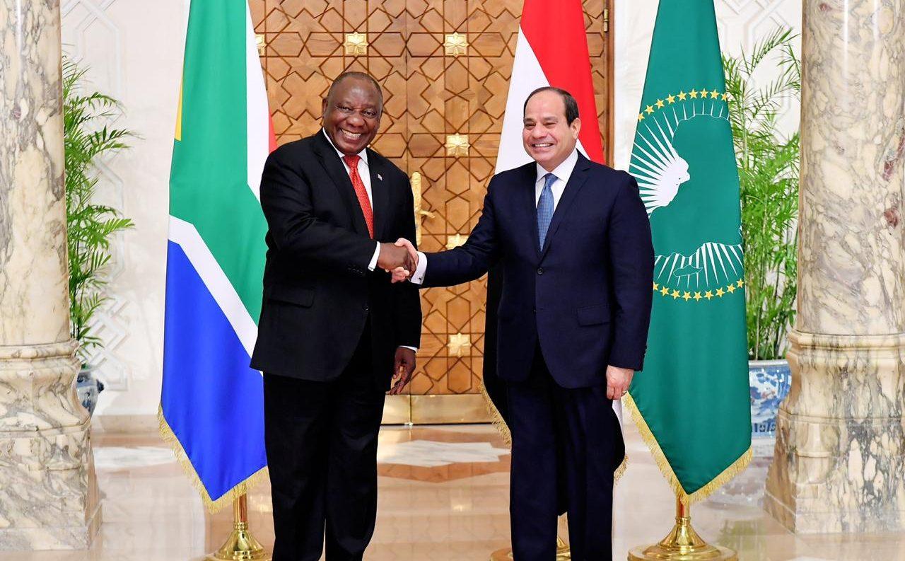 الرئيس السيسي لنظيره الجنوب أفريقي سير يل رامافوزا    استقبال رئيس جنوب أفريقيا6