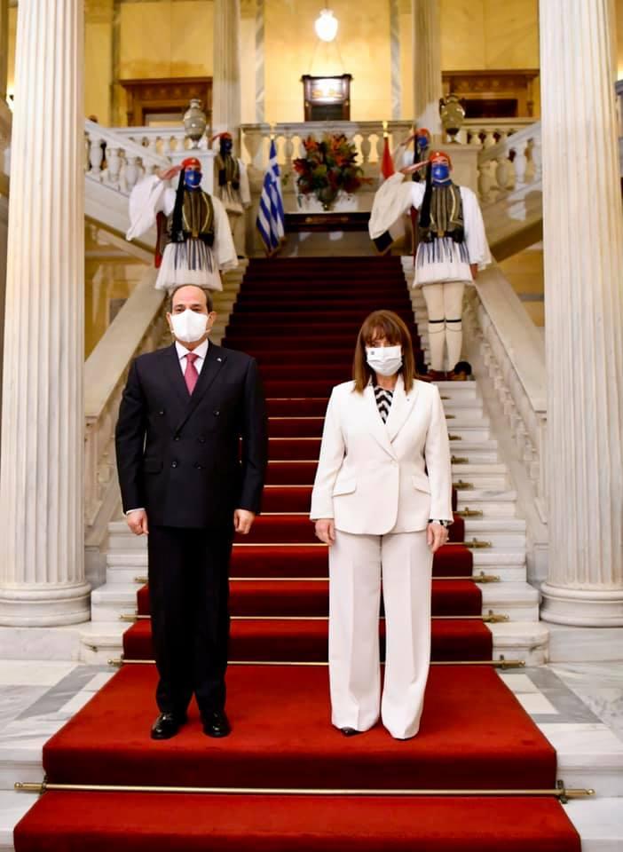 السيسي-رئيسة اليونان2
