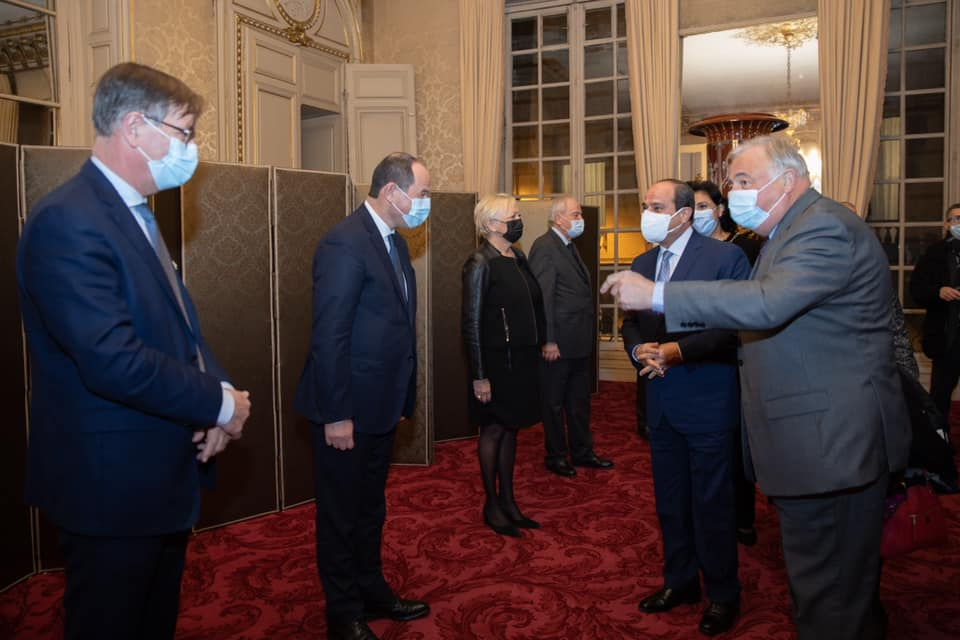 السيسي - رئيس الشيوخ الفرنسي-11