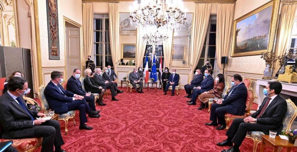 السيسي - رئيس الشيوخ الفرنسي-2