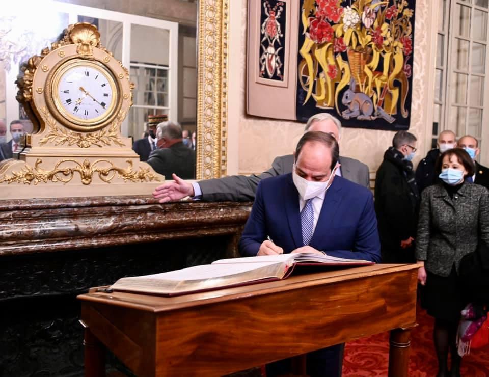 السيسي - رئيس الشيوخ الفرنسي-3