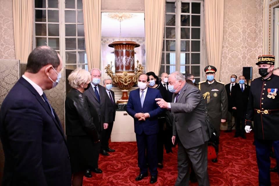 السيسي - رئيس الشيوخ الفرنسي-5