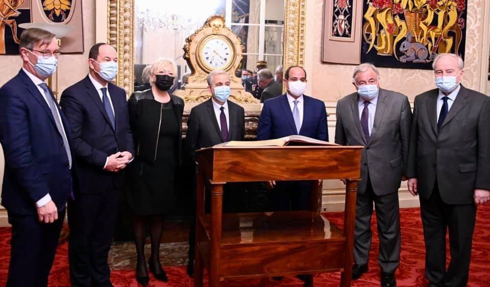 السيسي - رئيس الشيوخ الفرنسي-6