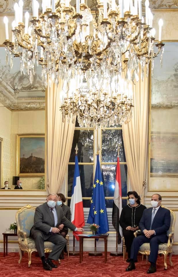 السيسي - رئيس الشيوخ الفرنسي