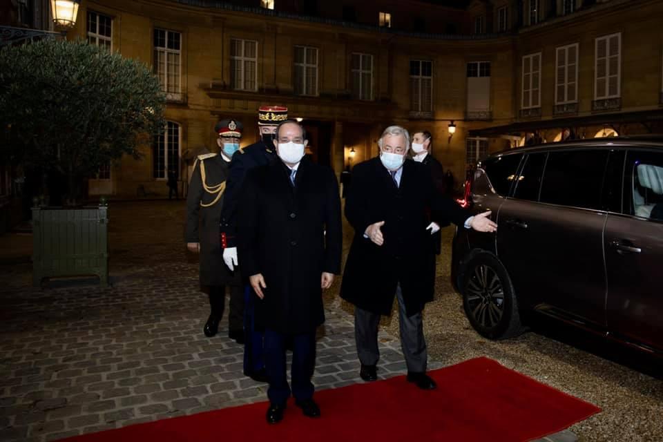 السيسي - رئيس الشيوخ الفرنسي10