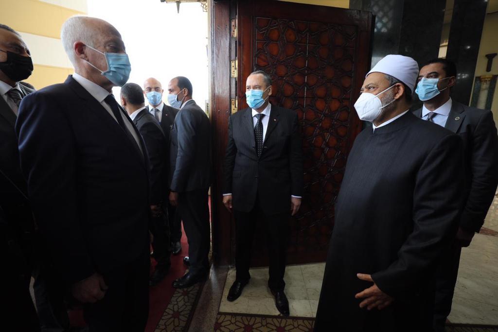 الإمام الأكبر يستقبل الرئيس التونسي-2