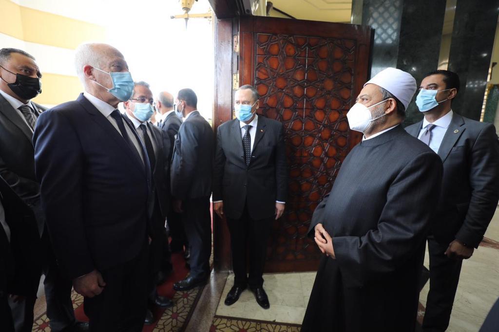 الإمام الأكبر يستقبل الرئيس التونسي-3