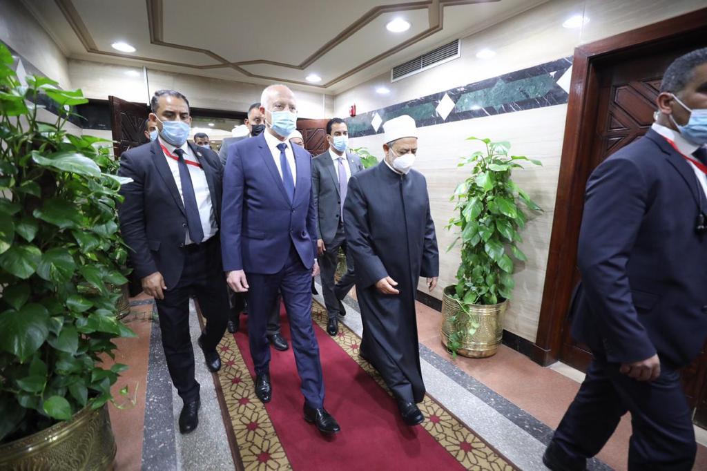 الإمام الأكبر يستقبل الرئيس التونسي-4