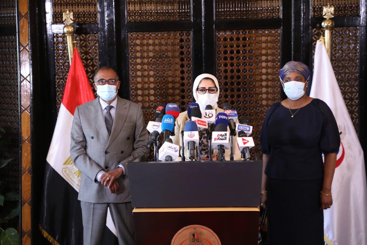 مؤتمر وزيرة الصحة مع مبعوث الاتحاد الإفريقي