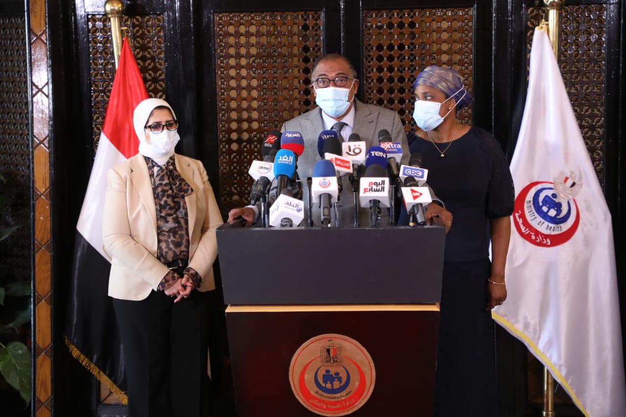 مؤتمر وزيرة الصحة مع مبعوث الاتحاد الإفريقي4