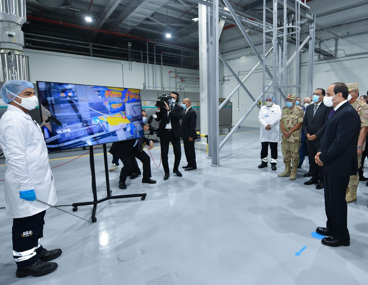 افتتاح الرئيس المدينة الصناعية الغذائية سايلو فودز9